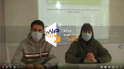 BTS Négociation et Digitalisation des Relations Clients - Explications avec deux étudiants